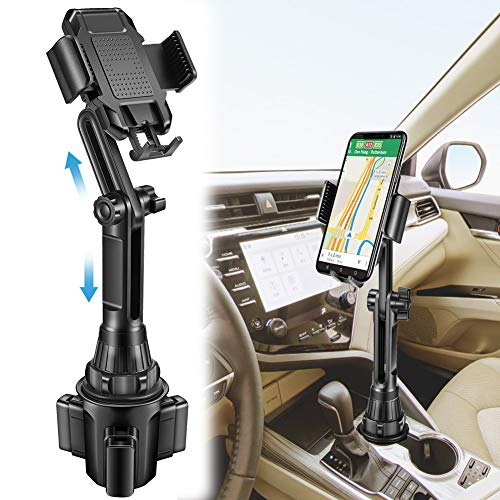 Lorima Car Cup Holder Phone Mount - Adjustable Cupholder Cell Phone Holder for Smartphone iPhone 11 Pro/XR/Xs/XS Max/X/8/7Plus/Galaxy/Xperia/Samsung