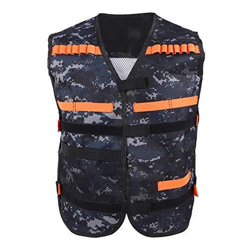 Gilet tattico per Bambini Gun N-Strike Elite Series, Camouflage Giubbotto tattico per Bambini Elite Thickened Toy Gun Clip Jacket Supporto per proiettili di Schiuma per Accessorio