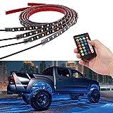 Justech Luci Strisce Sotto Auto Lampade Neon Auto 16 Colori + Telecomando a RFLuce Striscia RGB Illuminazione Impermeabile per Auto Paraurti Auto Fondo[Classe di efficienza energetica A++]