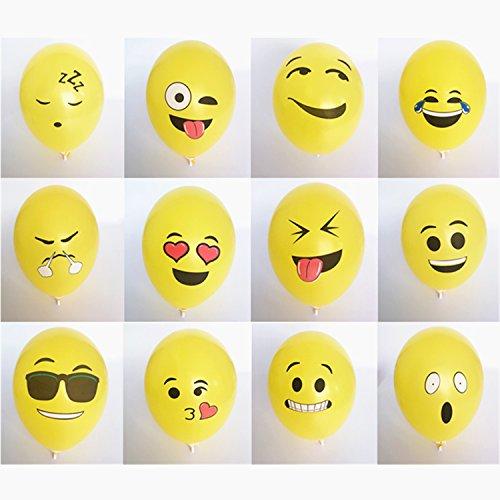logei 100St Emoji Latex-Luftballons Ballons Party Hochzeit Deko Ballon Geburtstag Premiumqualität 12 zoll
