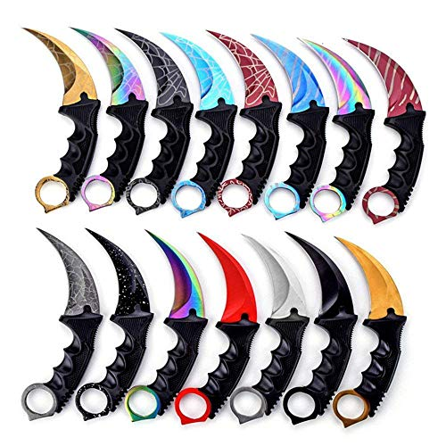 Karambit Knife Set of 2, Stainless Steel Fixed Blade Tactical Knife with Sheath and Cord Knife CS-GO for Hunting, Camping, Self Defenses and Field Survival