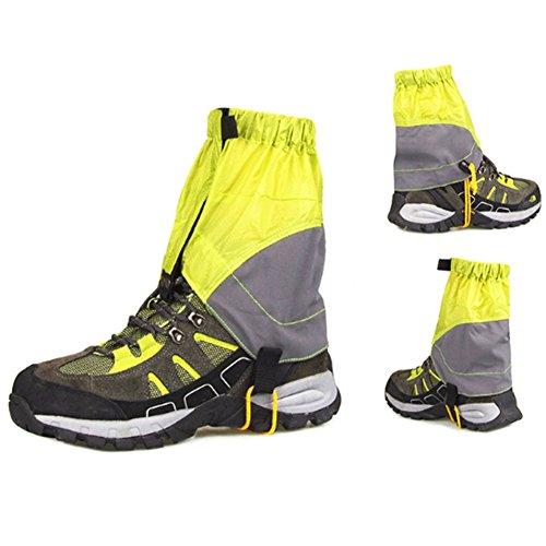 QINAIDI Snowproof Waterproof Ultra-Leichte Gamaschen - Unisex Outdoor Durable - Walking Gamaschen Snow Legging Beinschutz - Wraps Für Outdoor-Wandern Klettern Jagd Camping,Green