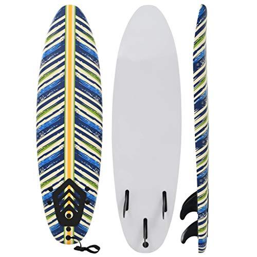 vidaXL Tabla de Surf 170 cm Hojas Deportes Acuáticos Exterior Navegación Mar