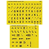 Large Print-Braille Keyboard Labels- Blk on Yellow...