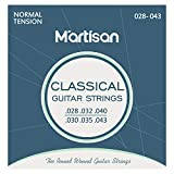 MARTISAN Classical Guitar String Sets Nylon Normal Tension (.028-.043) with 3 Guitar Picks