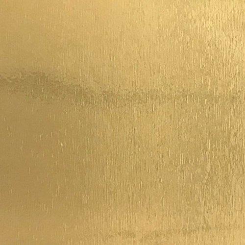 Klebefolie Metall-Optik Gold Gebürstet, Dekofolie Möbelfolie Tapeten selbstklebende Folie, PVC, ohne Phthalate, gold, 67,5cm x 1,5m, 120µm (Stärke: 0,12 mm), Venilia 53135