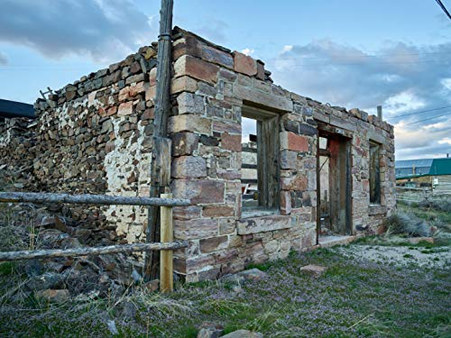 24 x 36 Giclee Print ofStructural remains in Atlantic City; not the famous New Jersey resort for sure but close to a ghost town in remote Fremont County Wyoming The town is a small v68 2016 Highsmith