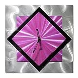Diagonal Clock Wall Decor - Purple Functioning...