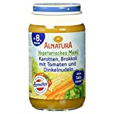 Alnatura Demeter Bio Karotte-Brokkoli-Tomate mit Dinkelnudeln, 6er Pack (6 x 220 g)