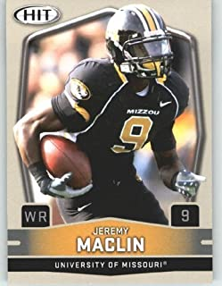 2009 Sage HIT 9B Jeremy Maclin WR (w-Helmet Visor)(RC - Rookie Card - Variation) First Card of the 2009 NFL Rookies