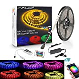 LED Streifen Arbeitet mit Alexa, Google Home, IFTTT, Wifi Wireless Smart Phone Gesteuert Led Strip 5m RGB LED Band Lichtleiste Full Kit