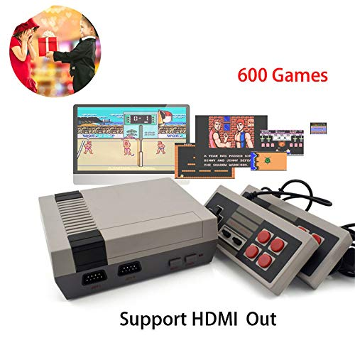 WFGZQ Klassische Plug-and-Play-Mini-Spielekonsole, Klassische Spielekonsole Mit 620 Integrierten Spielen, PAL NTSL Unterstützt TV-Wiedergabe, Kinder