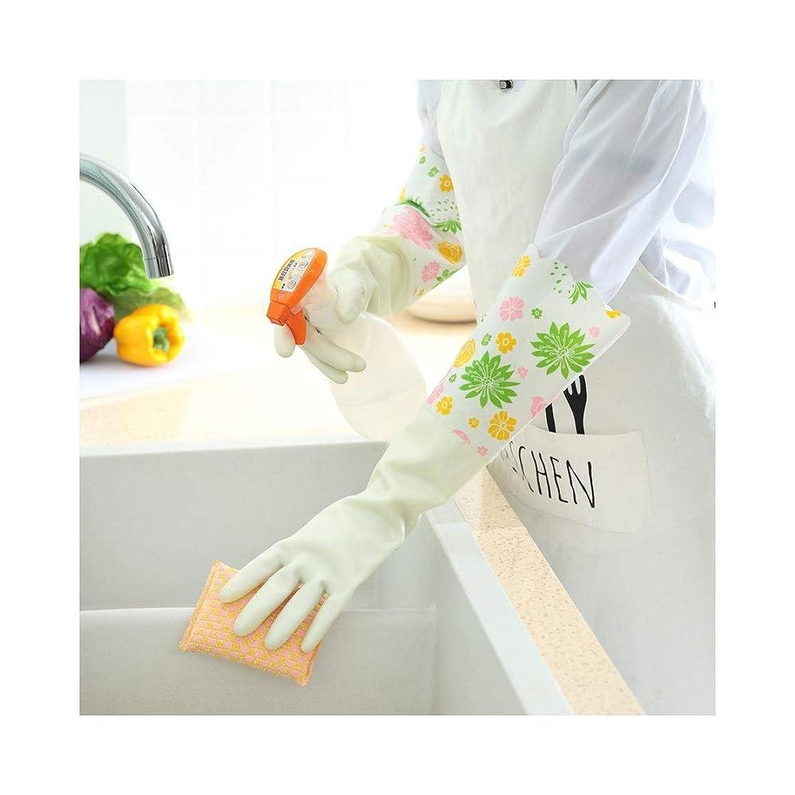 はがき等価出費ニトリルゴム手袋 キッチン用手袋防水性と耐久性のあるゴム製家事用手袋、1ペア 使い捨て手袋 (Color : GREEN, Size : L)