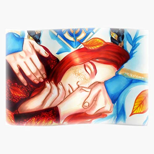 rabitat Sleeping Fall Automn The Elf Russingon Fingon Silmarillion Maedhros Geschenk für Wohnkultur Wandkunst drucken Poster 11.7 x 16.5 inch