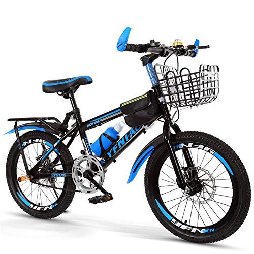 Daybreak Kinderfahrrad Mountainbike | 18 Zoll Kinderrad Classic Für Mädchen Und Jungen | Kinderrad MTB Mit Autoglocke, Wasserflasche, Fahrradkorb, Rücksitz