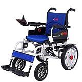GBX@I Silla de ruedas eléctrica para trabajo pesado, silla de ruedas eléctrica plegable y liviana, ancho del asiento 45 cm, joystick de 360 ??¡ã, capacidad de peso 150 kg ghk/Negro