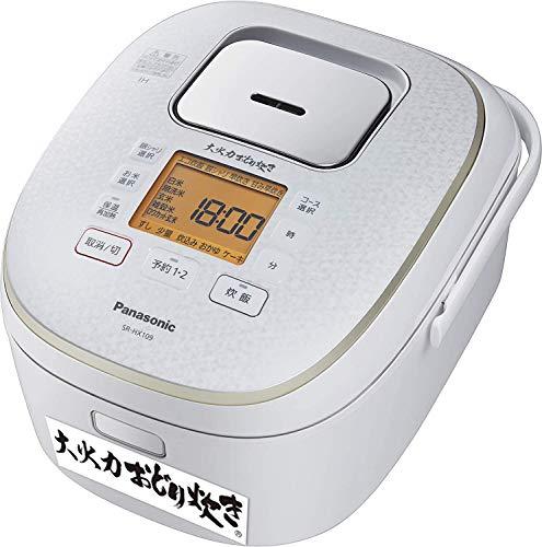パナソニック 炊飯器 1升 IH式 大火力おどり炊き スノーホワイト SR-HX189-W