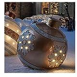 Bola decorada inflable de Navidad al aire libre, Bola decorada inflable de pvc de Navidad al aire libre, Bola inflable de Navidad gigante Decoraciones para árboles de Navidad con bomba ( Color : *D )