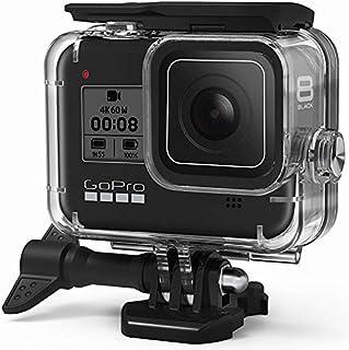 FitStill Waterdichte hoes voor GoPro HERO 8 Zwart, Beschermende Onderwater 60M Duikbehuizing Shell met Beugel Accessoires ...