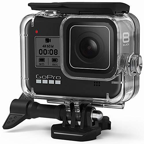 FitStill Wasserdichte Schutzhülle für GoPro Hero 8 schwarz, Unterwassergehäuse mit Halterung, Zubehör für Go Pro Hero8 Action-Kamera.
