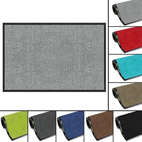 FB FunkyBuys - Zerbino in gomma lavabile, leggero, resistente, 60 x 80 cm, colore: grigio chiaro