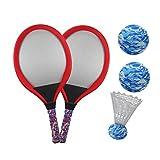 LIOOBO Jeux de Raquettes de Tennis Pratique éducatif Tennis Raquette Jeu de Plage Jouets Jeux de Raquettes de Badminton pour Enfants