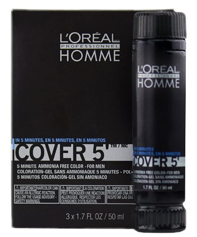 Loreal Homme Cover 5 - Ammonia Free 5-minute Color for Men (4 Dark Brown)