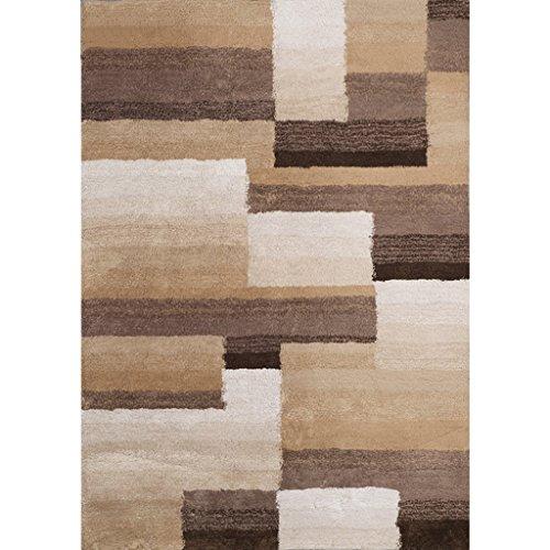 SESO UK- Épaississement Tapis Doux Mixte Couture Salon Chambre Tapis - Épaisseur: 2.5cm (Couleur : Chocolat Couleur, Taille : 120X170cm)