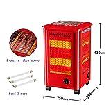 XFL Calentador de Cinco Lados, Armas de Fuego a la Parrilla, Pequeños Calentadores Solares, Horno Eléctrico de Cuatro Lados, Calefacción Eléctrica, Estufa a la Parrilla,Rojo,Cm