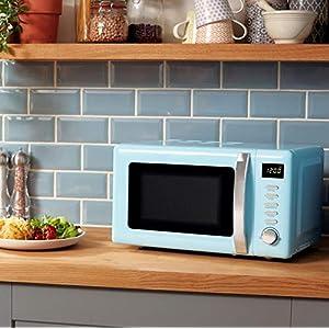 Beko Solo Retro Microwave 20L 800W - Duck Egg Blue