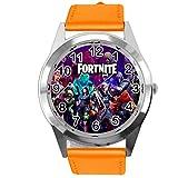Taport®, orologio in pelle arancione per i fan del Fortnite
