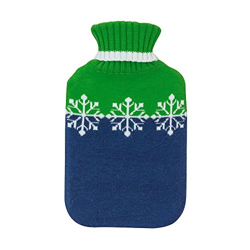 The Hot Water Bottle Shop, Bolsa de agua caliente con funda a rayas marineras de punto, Ladies Collection