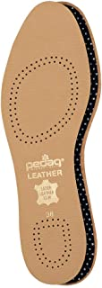 Pedag Flat 2 Pair Tanned Leather Insole with Effective Active Carbon Filter for Odor Control, US W10M7EU 40, 3.6 Ounce