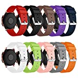 YaYuu Compatible Samsung Galaxy Watch 42mm/Galaxy Active 40mm Bracelets de Montre, 20mm Bande de Remplacement en Silicone Bracelet...