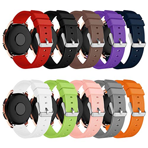 Syxinn Compatibile per Samsung Galaxy Watch 42mm/Galaxy Watch 3 41mm Cinturino 20mm Silicio Cinturini Braccialetto per Galaxy Watch Active/Active 2 40mm 44mm/Gear Sport/S2 Classic/Huawei Watch 2