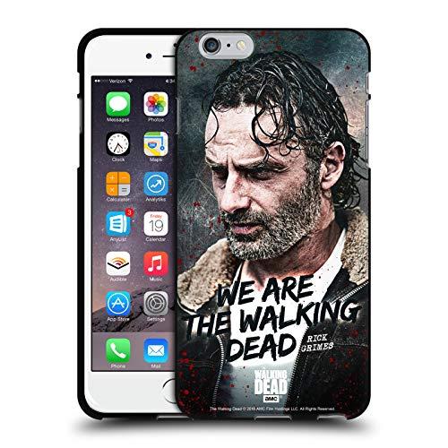 Oficial AMC The Walking Dead Cita Legado de Rick Grimes Funda de Gel Negro Compatible con Apple iPhone 6 Plus/iPhone 6s Plus