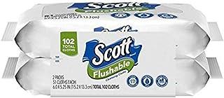 Scott Flushable Cleansing Cloths Refills 51 Clothes (2 Pack),102 Total