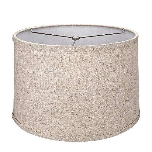 Tootoo Star Brown Lamp Shade Large Drum Lampshade for Chandeliers Floor Light and Table Lamp 13x14x9
