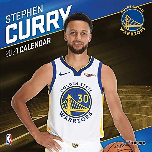 TURNER Sports Golden State Warriors Stephen Curry 2021 Mini Wall Calendar (21998040624)