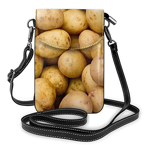 VJSDIUD bolsa de hombro Small Crossbody Bags Garden Potatoes Cell Phone Purse Women Pu Shoulder Bag Wallet Purses Handbag