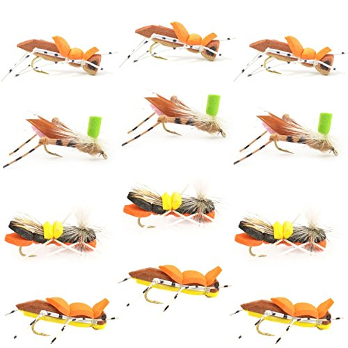 Fly Fishing Place Chernobyl Ant and Foam Hopper Fly Fishing Flies