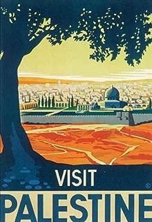 VISIT PALESTINE TOURISM VINTAGE POSTER CANVAS REPRO