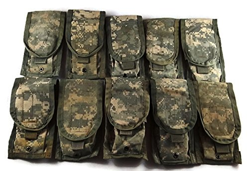 ACU Double Magazine Pouch, Pack of 10 MOLLE II US Army Surplus Mag Pouches
