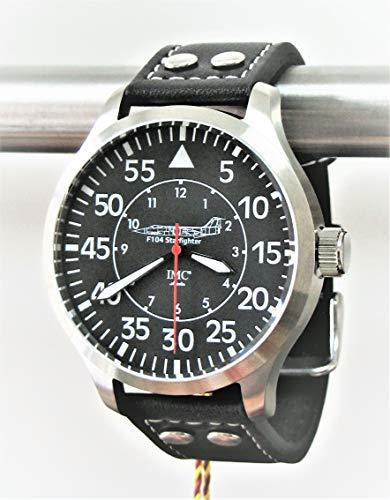 IMC Fliegeruhr Starfighter Männer Herren Armbanduhr Uhr Lederarmband Gehäuse aus Edelstahl