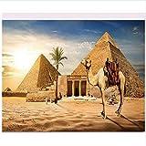 Para Adultos Regalo De Niños Pirámide Arquitectónica Egipcia Camel Decoración Del Hogar Pintura De Bricolaje Por Números 40X50 Cm-No Frame