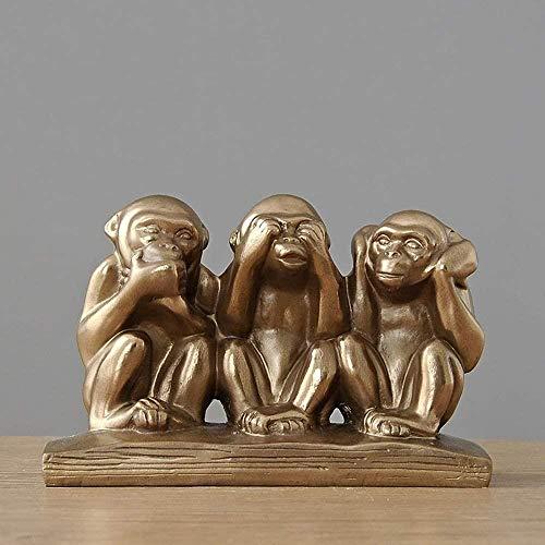 Skulpturer lyssnar inte, säg inte se orangutang vinskåp TV-skåp dekoration arbetsrum skrivbord dekoration rum sovrum dekoration delikat vacker