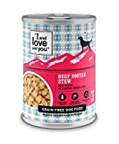 I and love and you Naked Essentials Wet Dog Food - Grain Free and Canned, Beef, 13-Ounce, Pack of 12 Cans