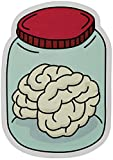 """Moxie Pop Brain in A Jar Stickers 2-Pack of Vinyl Decals Measuring 4"""" x 3"""" Great for Cars Windows Water Bottles Laptops"""
