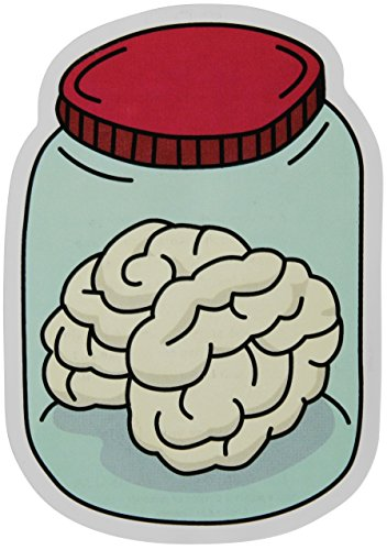"Moxie Pop Brain in A Jar Stickers 2-Pack of Vinyl Decals Measuring 4"" x 3"" Great for Cars Windows Water Bottles Laptops"