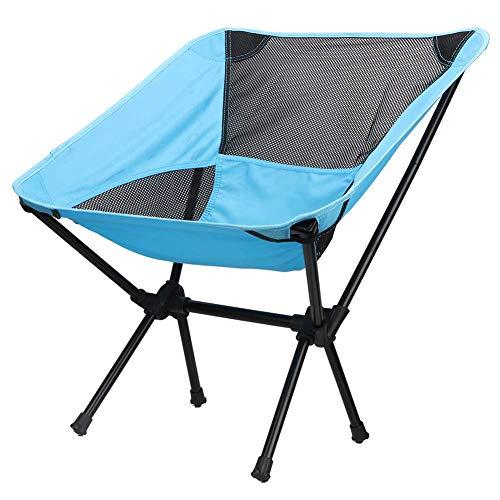 Rehomy Silla de camping plegable acolchada con diseño de luna, silla redonda...